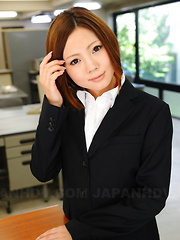 Lady Iroha Kawashima strips in her office