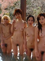 Steaming hot orgy in hot springs for the cam