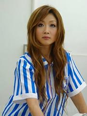Cute Hibiki Ohtsuki cheats her man at work