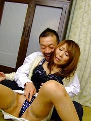 Asian gal Jun Kusanagi in a sexy threesome