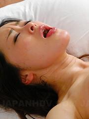 Sayaka Takase gets her hairy cunt fingered