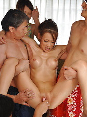 Japanese kinky sex with wrestling and dildos