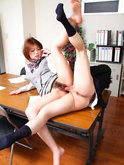 Japanese porn angel gets a fantastic creampie