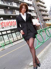 Fantastic Japanese brunette Tsubaki posing