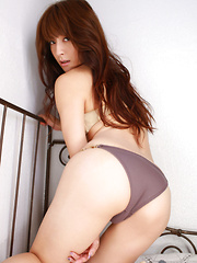 Rika Kawamura Asian has lace spider jumpsuit ripped and shows ass