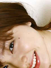 Saori Shiina Asian in sexy lingerie jumps and plays in her bed